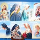 """Cromo of Italy Holy Cards 16 Card Lot Dolors Madonna Mary  2.5"""" x 4.5"""" Card Size"""