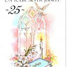 Catholic Greeting Card Priest Anniversary 25 Year Silver Jubilee Italy
