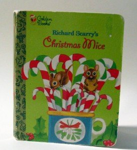 Golden Books Christmas Mice by Richard Scarry Boardbook 1992 Reprint from 1965