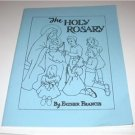 The Holy Rosary Coloring Book Catholic by Father Francis Reprint from 1951