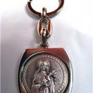 Saint Therese Medal Metal Key Chain Catholic Lovely!