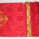 Humeral Veil Embroidered Vestment Red Damask Satin Lined Pockets Latin Mass