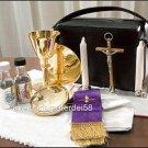 Catholic Priest Mass Kit Includes Chalice Paten Pyx Crucifix Candles Stole Plus