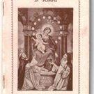 Two Novena Alla SS.Vergine Del Rosario Di Pompei Italian Rosary Novena NOS 1940
