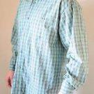 Men's Twenty X Wrangler Western Long Sleeve Cowboy Shirt L Green / Blue Plaid