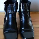 "Maurices Women's Black 9 M Medium 2"" Heel Ankle Boots w/ Side Zipper"