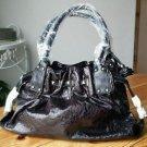 Purse Shoulder Handbag Black Slouch Silver Accents NWT