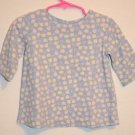 Peek A Babe 2T Baby Toddler Light Blue 3/4 Sleeve Shirt w/ Flowers & Lady Bugs