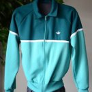 Vintage Adidas Women's Large Zip Up Workout Yoga Run Jacket Long Sleeved Green