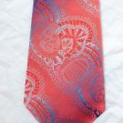 Vintage 70's Funky Polyester Fat Wide Fashion Neck Tie Pink Blue Silver