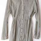 Rough Hewn Button Front Peasant Tunic Boho Long Sleeve Belted Shirt M 8/10