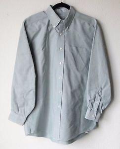 LL Bean Mens Long Sleeve Button Up Cotton Dress Shirt 16 - 33 Pale Green