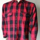 Hazel Creek Red Buffalo Plaid Long Sleeve Button Up Flannel Shirt L