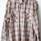 Levi's Plaid Long Sleeve Men's XL Shirt, Button Front, 2 Chest Pockets, Cotton