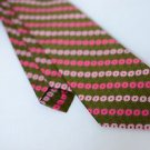 Vintage Funky 70's Terylene Polyester Fashion Craft Neck Tie Green Pink EUC