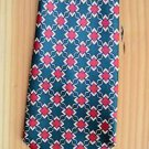 Brothers Handmade Dark Green Background, Red, Blue 100% Silk Neck Tie Geometric