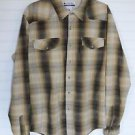 Men's Columbia L Large Brown Beige Long Sleeve Button Up Shirt Button Pockets