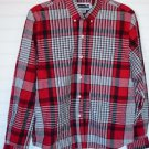 Panhandle Slim Medium Red Plaid Western Cowgirl Shirt Button Up Long Sleeve