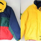 Braetan 80s Reversable Puffer Winter Ski Jacket Down Coat Zip Front Hood M-L