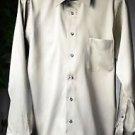 Geoffrey Beene Muted Green Sateen Dress Shirt Wrinkle Free 34/35 Medium 15 1/2