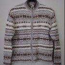 Tiara Zip Front Long Sleeved Women's Large Sweater Browns