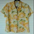 Columbia L Large Casual Outdoor Fishing Hawaiian Garden Short Sleeve Shirt Top