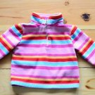 WonderKids Girls 12 Month Fleece Pullover Long Sleeve Multi Color Striped Jacket
