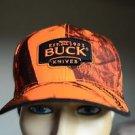 Hunter Orange Safety Camoflage Buck Knives Hunting Baseball Trucker Hat