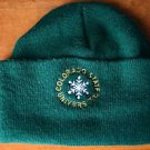 Colorado State Univers CSU Beanie Hat Cap Adult One Size Fleece Lined Green EUC