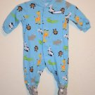 Carter's 3 Month Boy Footed Sleeper Zoo Theme, Long Sleeve, One Piece, Cotton