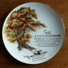 Avon 5th Anniversary Porcelain 22K Gold Trimmed Collector Plate