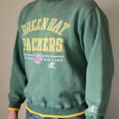 VTG Mens NFL Pro Line Authentic Green Bay Packers Sweatshirt Football M Medium