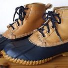 Land Rover Thom McAn Womens 6 Ankle Mud Boot w Laces Leather Rubber Sherpa Lined