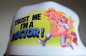 Trust Me Im A Doctor Black & White Trucker Beach Babe Art Mesh Snap Back Hat
