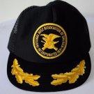VTG NRA National Riffle Associaton Black Yellow Trucker Hat Mesh Snap Back USA