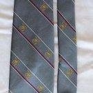 The President Grey, White, Red, Gold, Striped, Silk Blend, Mens Vintage Tie USA