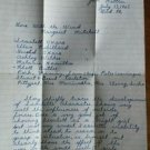 Gone with the Wind Vintage Handwritten Book Report Cursive Dated July 13, 1963