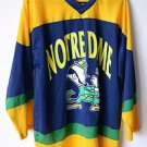 Vintage Rare Majestic Notre Dame Fighting Irish Hockey Jersey Large Made in USA