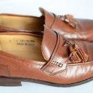 Johnston & Murphy 9 Leather Tassel Penny Loafer Slip On Dress Shoe Brown Italy