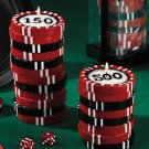 Poker chip candles