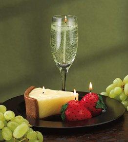 Champagne, Cake & Fruit Candle Gift Set