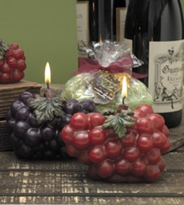 Large Grape Cluster Candle