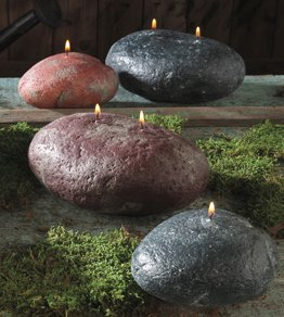 Rock Candle with Single Wick