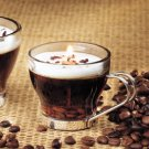Small Gel Filled Cappuccino Glass Specialty Candle by Lava Enterprises Candles