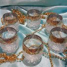Vintage set of glass shots 6 pieces brand new in the box of factory