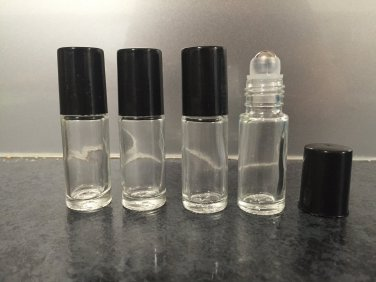 5ml clear thick roller bottles
