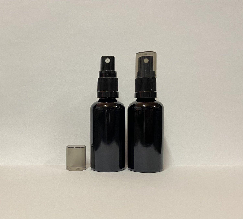 50ml Black Glass Spray Bottle