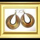 Handmade Fully Threaded Round Earrings