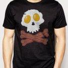 Best Buy Bacon & Eggs Skull & Crossbones funny T-Shirt - Bacon Strips Men Adult T-Shirt Sz S-2XL