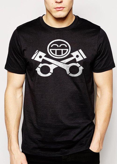 Best Buy JDM RACING CAR Piston Smiley face Men Adult T-Shirt Sz S-2XL